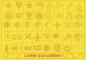Gratis plattlinjär ikoner bakgrund vektor