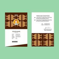 brauner Personalausweis vektor