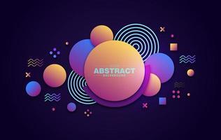 färgglada lager geometriska cirkel bakgrund vektor