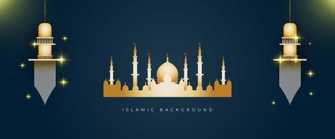 islamisk bakgrund med gyllene färg vektor