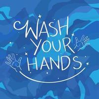 Waschen Sie Ihre Hände Hintergrund vektor