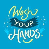tvätta händerna doodle