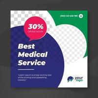 bästa medicinska sociala banner mall
