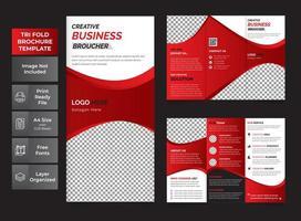 broschyr för tre gånger i företag