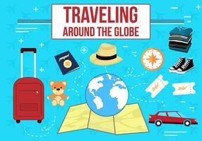 Freie Reisen Vektor Icons