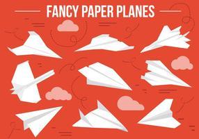 Kostenlose Papier Flugzeuge Vektor