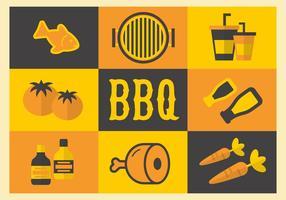 Free Barbecue Elemente Vektor