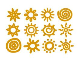 Vektor handgjorda soler