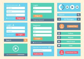 Free Flat Web User Interface Vektor Hintergrund
