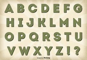 Weinlese-Retro Art-Alphabet-Satz