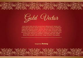 Guld och Röd Elegant Bakgrunds Illustration vektor