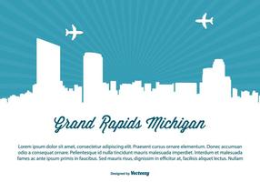 Grand rapids michigan skyline illustration