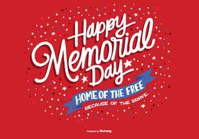 Handdragen Memorial Day Vector
