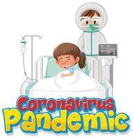 Arzt und Coronavirus-Patient im Krankenhaus vektor