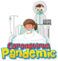 läkare och coronaviruspatient på sjukhus