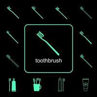Zahnbürste Icon Set vektor