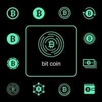 Bitcoin Icon Set vektor