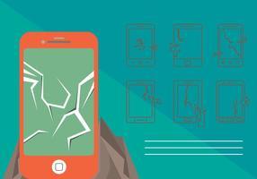 Gratis Cracked Phone Screen Vector