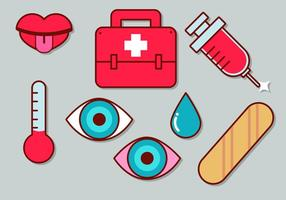 Nette medizinische Ikone Set 2