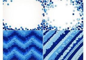 Blaue Sequins Hintergrund Set vektor