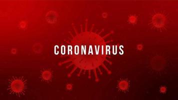 Coronavirus Red Virus Cell Design vektor