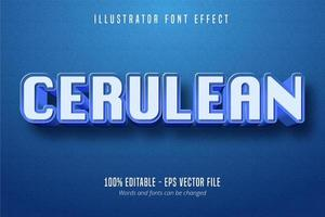 Cerulean Text Font-Effekt vektor