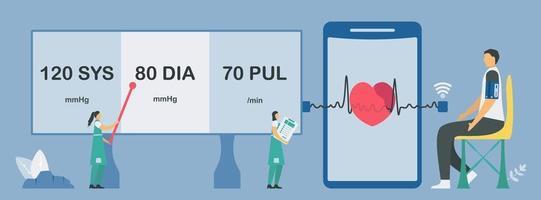 Neue Technologie zur Herzschlag- und Pulsprüfung vektor