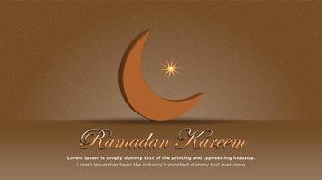 Ramadan-Plakat mit Mond und Muster in Braun vektor
