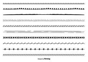 Söt handdragen gränsuppsättning vektor