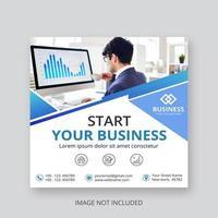 Starten Sie Ihr Business Square Social Media Banner vektor