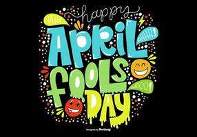 Hand gezeichnet Aprilscherz Tag Vektor