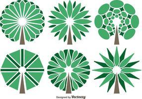 Vektor abstrakt träd set