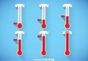 Thermometer-Vektorsets
