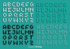 Vektor Pixel Alphabet Set