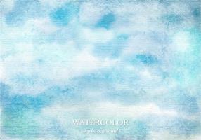 Gratis vektor vattenfärg himmel bakgrund
