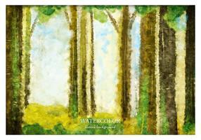 Gratis Vector Akvarell Skog Bakgrund