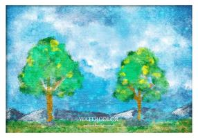 Free Vector Aquarell Landschaft