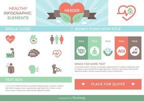 Gesunde infografische Elemente Vektor