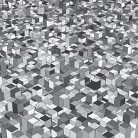isometrische Extrudierwürfel vektor
