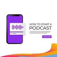 Banner, wie man ein Podcast-Marketing startet