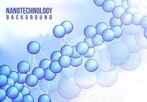 Nanotechnologie Hintergrund Vektor frei
