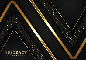 geometrisk bakgrund för svart och guld triangel