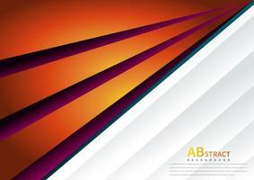 orange und lila abgewinkelter Burst-Hintergrund vektor