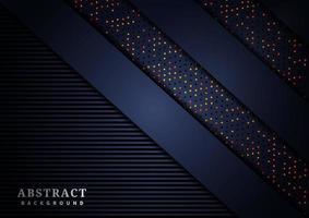 überlappender Luxus-Hintergrund des diagonalen 3D-Schnittpapiers