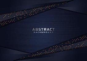 abstrakt mörkblå överlappande glittrande former lyxbakgrund vektor