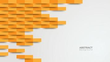 abgewinkelte Streifen mit orangefarbenem Farbverlauf über grauem Hintergrund vektor