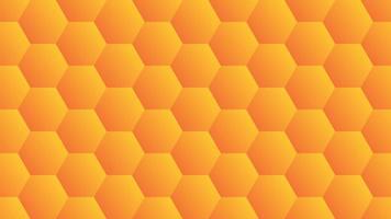 orange Gradient Sechseck Design vektor