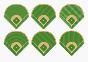 Typer av baseball diamant vektorer