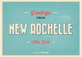 Neue Rochelle New York Gruß Illustration