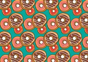 Free Donut Pattern Vektor